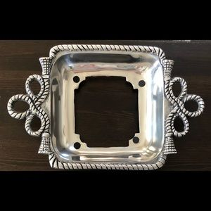 Other - NEW 8x8 Pewter Casserole Dish Holder Square